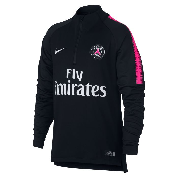Sudadera Training Paris Saint-Germain Dri-FIT Squad Drill Junior Negro 2018/2019